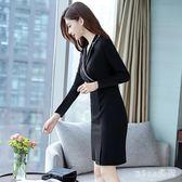 中大尺碼職業裝套裝 女新款秋名媛小香風美容院工作服OL正裝工裝洋裝 js13589『miss洛羽』