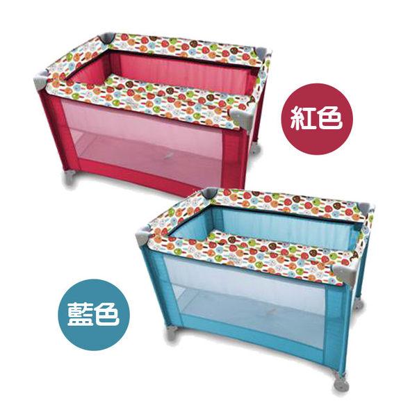馬克文生 GP05B 雙層遊戲床 (紅/藍)【佳兒園婦幼館】
