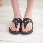 夾腳拖 厚底女涼鞋 黑 夏季 女款真皮涼鞋《SV6992》快樂生活網
