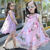 夏天女童雪紡洋裝夏季兒童短袖中大童禮服 LQ4435『小美日記』
