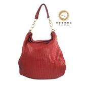 【雪曼國際精品】Christian Dior 皮革編織側背購物包~二手商品(8.成新)