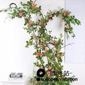 仿真花藤/裝飾塑料藤花綠葉掛墻貼「歐洲站」