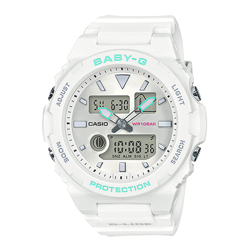 CASIO 卡西歐 手錶專賣店 BABY-G BAX-100-7A 運動衝浪型雙顯女錶 防水100米 BAX-100