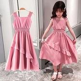 吊帶裙 女童洋裝夏季新款夏裝兒童裝網紅洋氣公主裙子大童女孩12歲