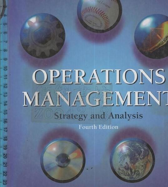 二手書R2YB《OPERATIONS MANAGEMENT 4e》1996-Kr