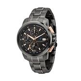 【Maserati 瑪莎拉蒂】SUCCESSO光動能槍色三眼計時鋼帶腕錶-鐵灰款/R8873645001/享兩年保固