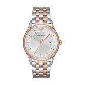 【Emporio Armani】美式經典簡約雙色鋼帶腕錶-撞色款/AR11044/台灣總代理公司貨享兩年保固
