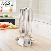 不銹鋼鍋鏟掛架 旋轉廚具架廚房置物架家用廚架工具堅固