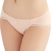 思薇爾-輕沁舒系列M-XL蕾絲低腰三角褲(杏桃膚)