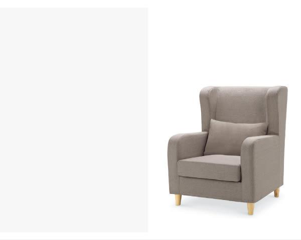 沙發【YUDA】傑西 獨立筒坐墊 亞麻布 淺咖啡 單人 布沙發/沙發椅 附腳椅 I8X 602