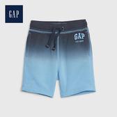 Gap 男幼童 漸變風格鬆緊腰短褲 542387-舒適藍