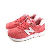 NEW BALANCE 574系列 運動鞋 復古鞋 珊瑚紅 女鞋 窄楦頭 WL574CHE-B no403