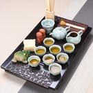 紫砂功夫茶具套裝整套陶瓷客廳家用茶道茶壺簡約復古中式實木茶盤WY尾牙 限時鉅惠