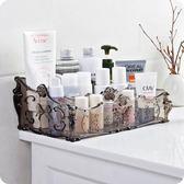 歐式透明多格化妝品收納盒桌面塑料儲物盒mj809【VIKI菈菈】