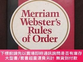 二手書博民逛書店Merriam-Websters罕見Rules of Order韋氏議事規則英語詞典原版英英文字典雅思托福Y7