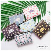 Catworld 滿版印花硬殼零錢包【19500814】‧F