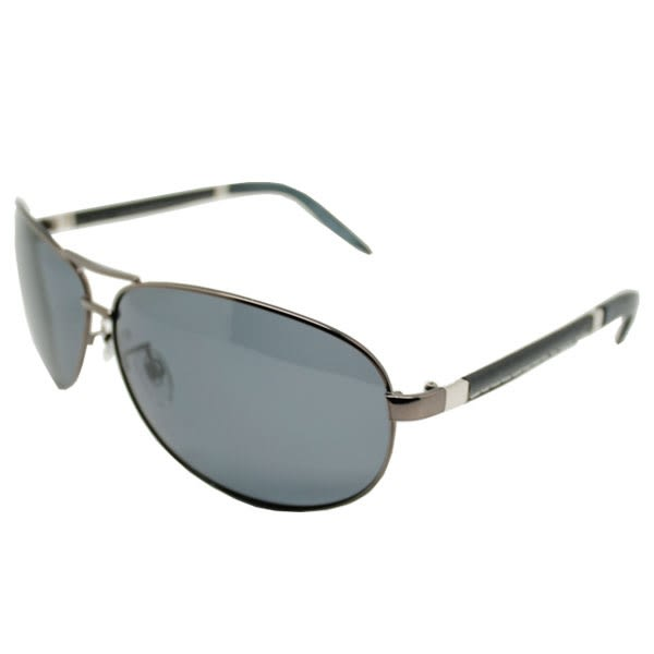 OT SHOP太陽眼鏡‧台灣製抗UV400寶利來偏光墨鏡‧宋仲基飛官雷朋皮革鏡腳‧黑色/茶色‧現貨‧B24