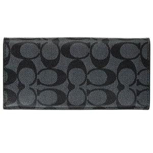 COACH F75013 錢包PVC長款對摺錢夾手拿包男包