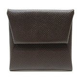 HERMES 愛馬仕 47 Chocolat 巧克力零錢包 Bastia change purse【BRAND OFF】