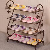 鞋架簡易家用多層簡約現代經濟型鐵藝宿舍拖鞋架子收納鞋柜xx7501【雅居屋】TW