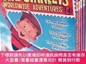 二手書博民逛書店Flat罕見Stanley s Worldwide Adventures #1-4 Box SetY45464