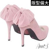 Ann'S甜美回眸-後跟立體大蝴蝶結細跟尖頭高跟鞋-粉
