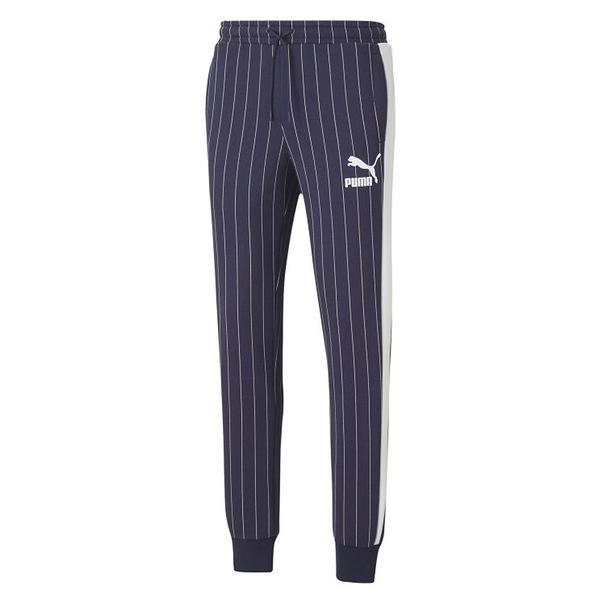 PUMA PINSTRIPE TRACK PANTS 男裝 長褲 棉質 口袋 條紋 藍 歐規【運動世界】53017806