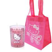 Kitty 晨曦玫瑰香氛蠟燭65g(無盒)+粉紅購物袋