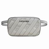 【南紡購物中心】MICHAEL KORS ROSE壓紋衍縫銀字LOGO腰包/胸口包-珍珠灰