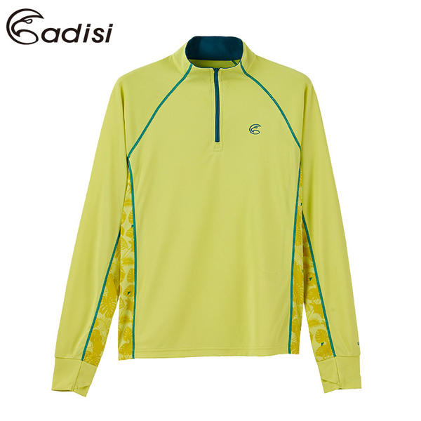 ADISI 女UPF50+防曬長袖半門襟排汗衣AL1911066 (S-2XL) / 城市綠洲 (抗紫外線、吸濕速乾、防曬上衣)