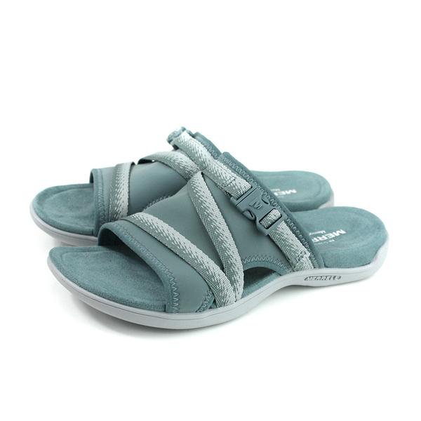 MERRELL DISTRICT MURI SLIDE 拖鞋 戶外 橡膠底 灰藍色 女鞋 ML000136 no096