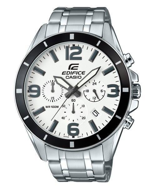 【時間光廊】CASIO 卡西歐 EDIFICE 三眼鋼帶 白 賽車錶款 全新原廠公司貨 EFR-553D-7BVUDR