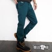 格子膠印後口袋純棉休閒長褲(共二色) 樂活衣庫【36-6303】