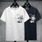 棉麻男士短袖T恤亞麻中國風V領大碼寬鬆打底衫男上衣2021夏季新款 快速出貨