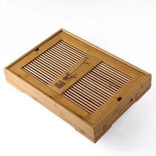 盛水 大中小 嵌入式孟宗竹茶盤