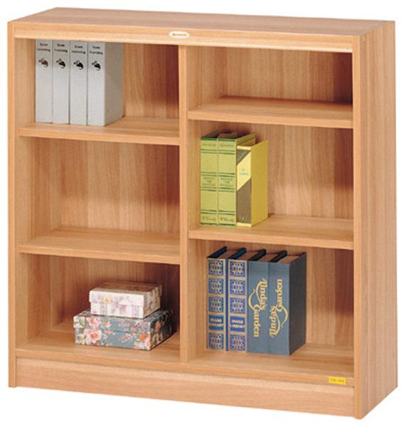 HY-574-5  白胡桃色六段低櫃 / 書櫃(08025)-附四片活動板移動板.32MM間距多孔設計