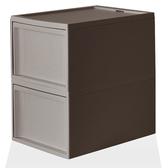 【RISU】北歐風堆疊抽屜櫃組(加大版) L -棕色