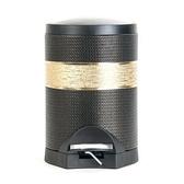 【Finara費納拉】豪宅風腳踏式垃圾桶-溫莎公爵黑金色(5L)