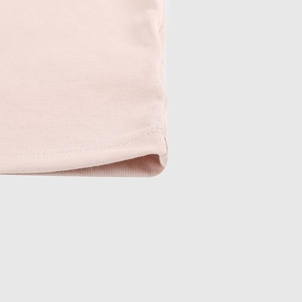 Gap女裝 甜美風格泡泡袖休閒短袖T恤 577527-粉色