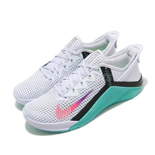 Nike 訓練鞋 Wmns Metcon 6 FlyEase 白 綠 女鞋 可折疊鞋後跟設計 健身專用 運動鞋 【ACS】 DB3794-020