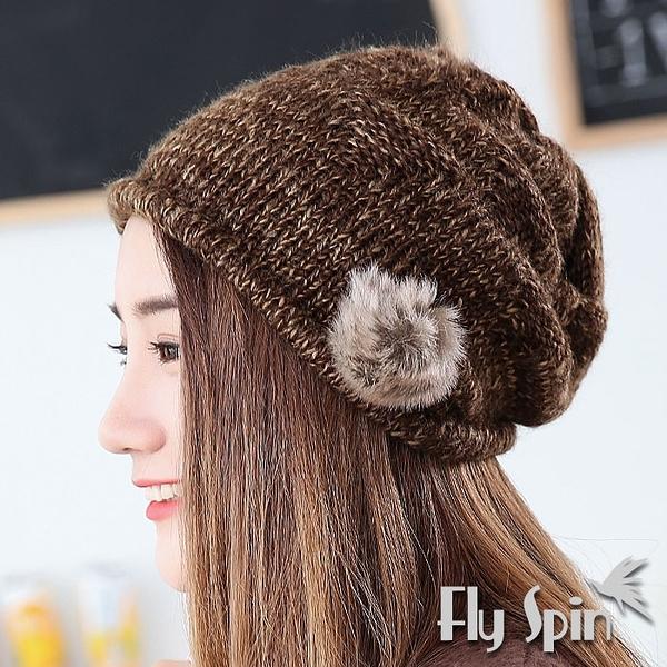 保暖針織帽-韓版女款針織保暖毛線帽12AW-N087 FLY SPIN