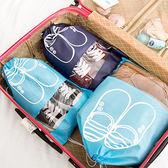 【BlueCat 】深淺藍色大頭鞋圖案衣物鞋類收納袋大號(深藍2 入淺藍2 入4 入組