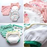 男女寶寶如廁訓練褲夏季兒童隔尿褲純棉紗布學習內褲可洗防漏防水 滿天星