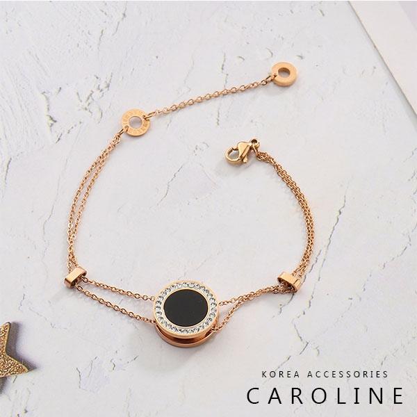 《Caroline》韓國時尚風格項鍊網紅ins高貴典雅設計鈦鋼手鍊72721