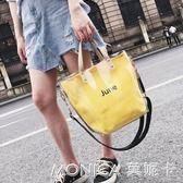 夏天小包包女潮韓版 百搭斜背單肩手提少女透明包包 美斯特精品