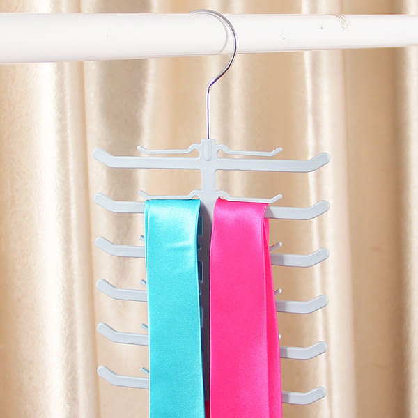 ♚MY COLOR♚魚骨造型領帶架 多用途衣架 圍巾架 領帶架 絲巾架 皮帶架 雜物架 衣物收?【L56】