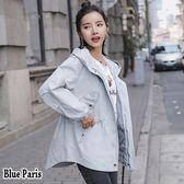 藍色巴黎 ★ 秋冬 BF原宿風連帽拉鍊開衫長袖外套 夾克  風衣外套 《3色》【28597】