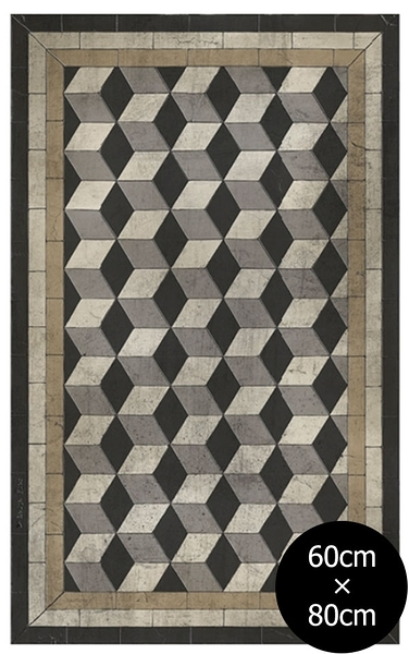 地墊 玄關墊 廚房墊 幾何形 磚紋 Tile Flooring BapB AN Wabi Sabi (60×80)