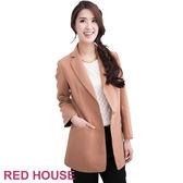 RED HOUSE-蕾赫斯-長版西裝外套(卡其)