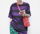 FINDSENSE H1夏季 新款 日本 嘻哈 原宿  個性 條紋麻葉圖案  時